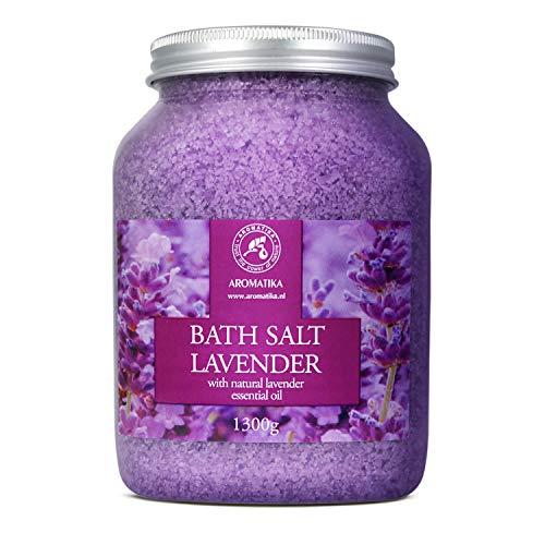 Badzout Lavendel 1300g - Droge Huid - Spierpijn - Vermoeidheid - Huidverzorging - Aromatherapie - Anti-Stress - Bad - Jacuzzi - Spa - Wellness - Ontspanning - Anti-Aging