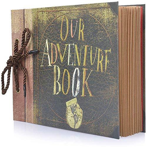 BBwill Fotoalbum Scrapbook, Ons Adventure Book, DIY Handgemaakte Album Scrapbook Movie Up Reizen Scrapbook voor Jubileum, Bruiloft, Reizen, Baby Douche, etc