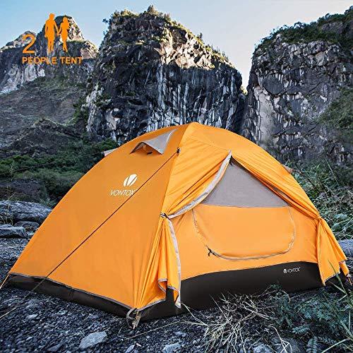 V VONTOX Koepeltent, voor 1-3 personen, waterdicht, ultralicht, met aluminium tentstang, 3-4 seizoenen, compact, voor gezinsleden, reizen, strand, camping en outdoor