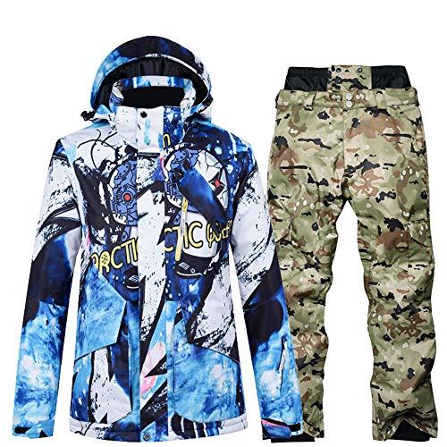 Skikleding heren pak enkele en dubbele plank waterdicht groot formaat winter verdikking outdoor reizen,Top + pants 3xl