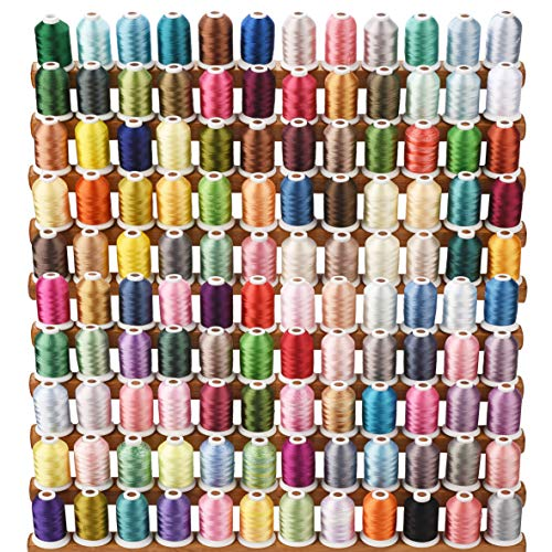 Simthread Borduurgaren voor machines, 120 kleuren, 1000 meter, voor Brother/Babylock/Janome/Kenmore/Singer/W 6N borduurmachine