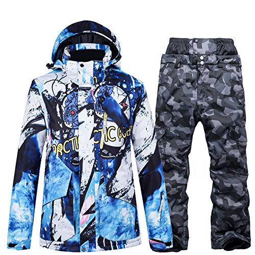 Skikleding heren pak enkele en dubbele plank waterdicht groot formaat winter verdikking outdoor reizen,Top + pants 7s