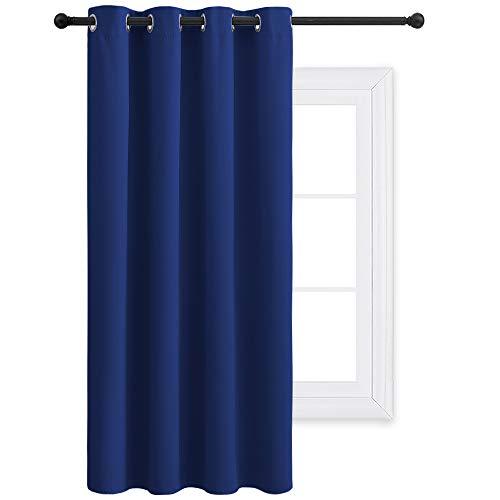PONY DANCE Gordijn Gewone geïsoleerde verduisteringsgordijnen, 52 x 63 inch, 1 tabletten, Donkerblauw