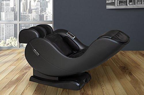 WELCON massagestoel EASYRELAXX in het ZWART - massagestoel met hellingscorrectie elektrische automatische programma's voor het kneden van massage-rollenmassage