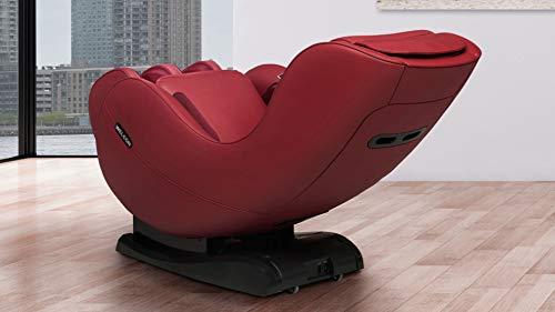 WELCON Marktintroductie in rood - Massagestoel EASYRELAXX in rood, L-vorm, automatische programma's voor het kneden van massagestoelen