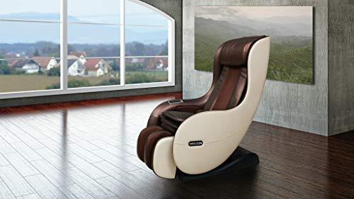 Massagestoel WELCON EASYRELAXX in beige bruin Automatische programma's Kneedmassage Klopmassage Rolmassage Airbagmassage Compressie