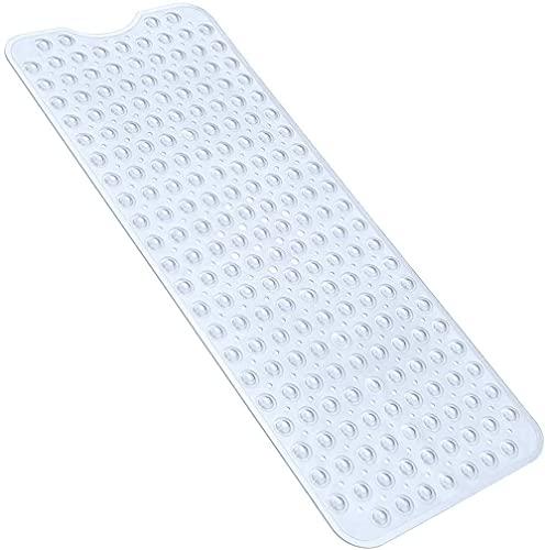 Nifogo badmatten antislip antislip Lange 100 x 40cm, Douchemat Grote Anti Mould voor Baby/Kinderen/Honden/Binnenbad, Machine Wasbaar (helder)